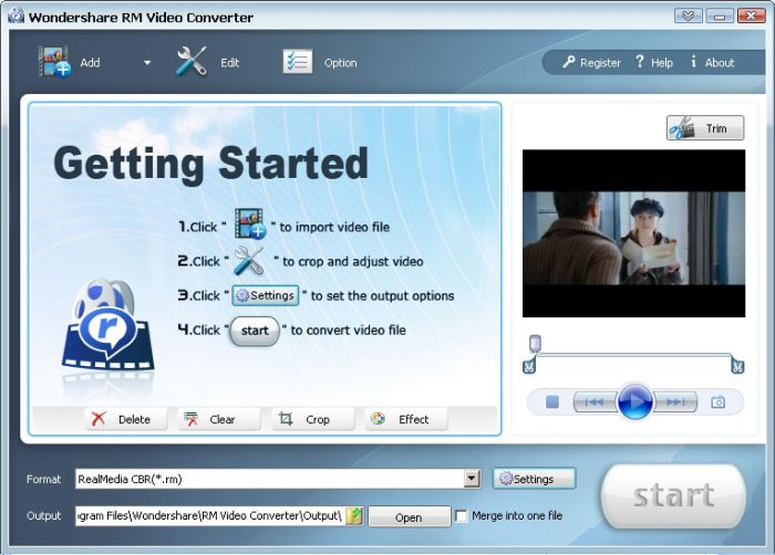 Program Wondershare Video Converter Platinum 1