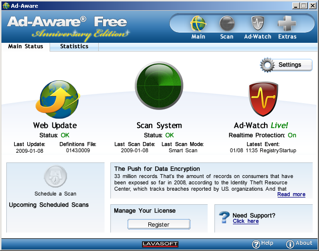 Program Ad-Aware Free 4