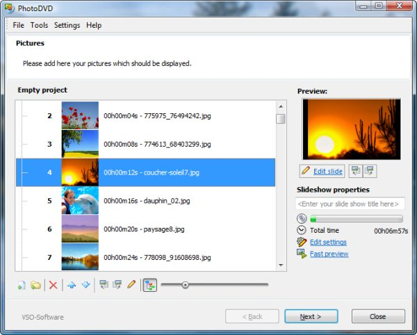 Program PhotoDVD 1