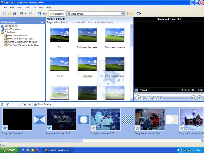 Program Windows Movie Maker 1
