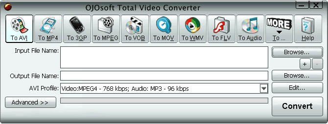 Program OJOsoft Total Video Converter 1