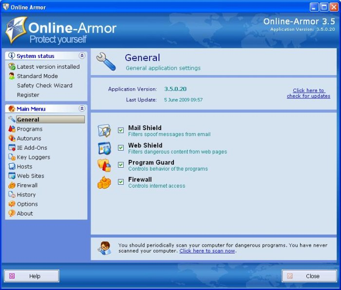 Program Online Armor 2