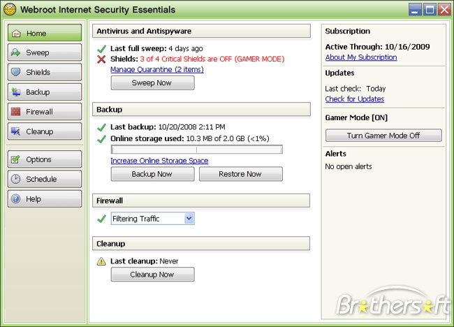 Program Webroot Internet Security 1