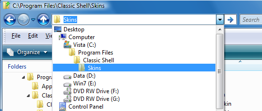 Program Classic Shell 3