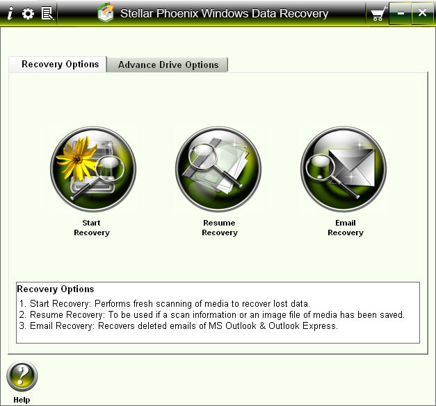 Program Stellar Phoenix Windows Data Recovery 4