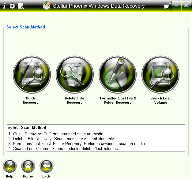 Program Stellar Phoenix Windows Data Recovery 2