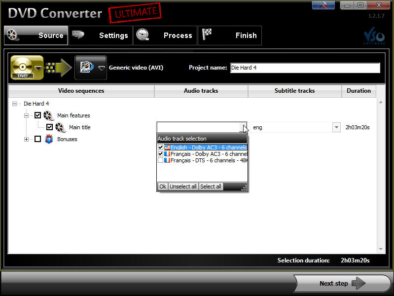 Program DVD Converter Ultimate 3
