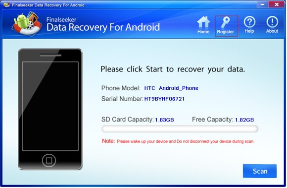 Program Data Recovery For Android 1